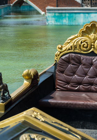 reproduce: Small canal in Venice Reproduce at HuaHin Thailand Stock Photo