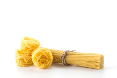 Italiaanse spaghetti pasta gedroogd voedsel