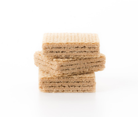 filling line: coffee wafer on white background