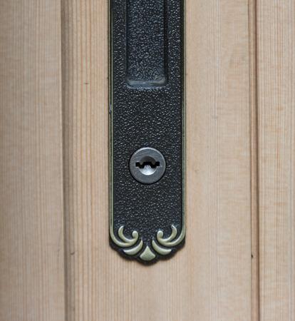 keyhole: Keyhole on a wood door