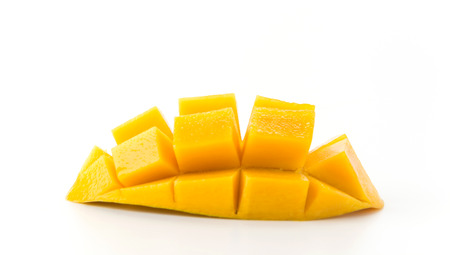 mango: fresh mango on white background Zdjęcie Seryjne