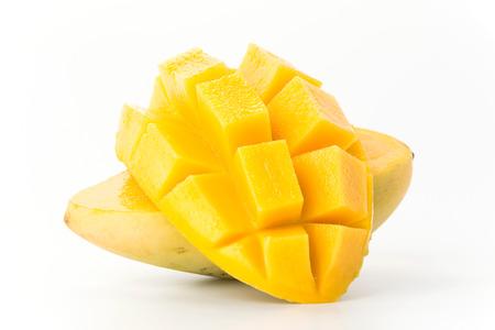 mango: fresh mango on white background Stock Photo