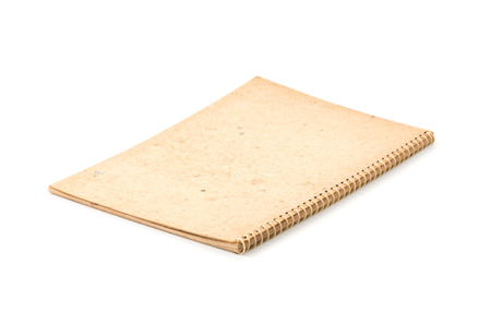 old notebook: old notebook on white background Stock Photo