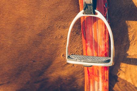 stirrup: saddle stirrup - soft focus with film filter