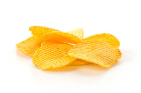 Kartoffelchips auf weißem Hintergrund Standard-Bild - 44583823