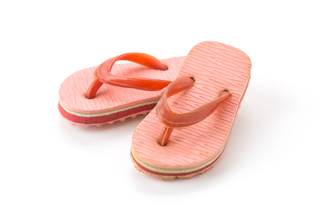 sandalia: Mini sandalia en el fondo blanco