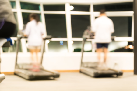 sports club: blurred fitness area for background