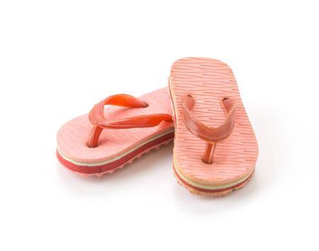 sandal: Mini sandalia en el fondo blanco