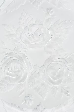plater: old plate detail on white background