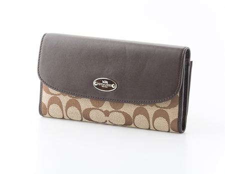 designer bag: Bangkok, Thailand - JUNE 21, 2015: Coach bag.is an American luxury leather goods bag. Editorial