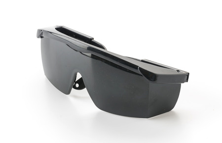 welded: Welding goggles on white background