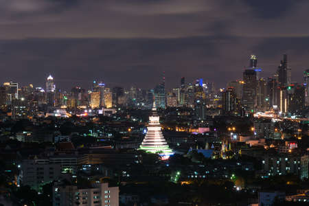 bangkok NIGHT: bangkok night city scape for background