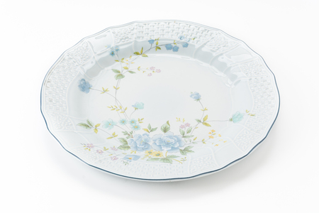 plater: old plate on white background