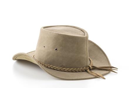 stetson: cowboy hat on white background
