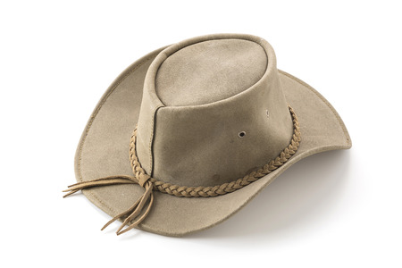 cut the competition: cowboy hat on white background