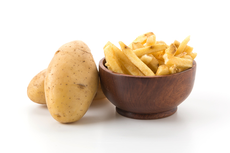 salty: french fries on wood plate