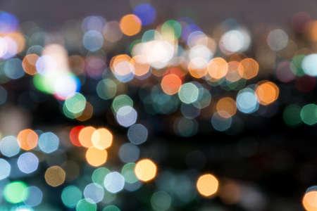 bangkok NIGHT: blurred bokeh cityscape of bangkok night Stock Photo