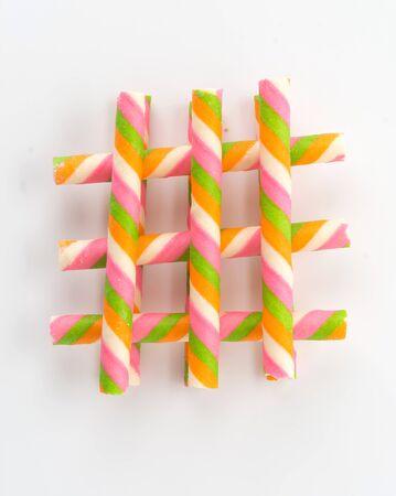 wafer: rainbow wafer stick on white