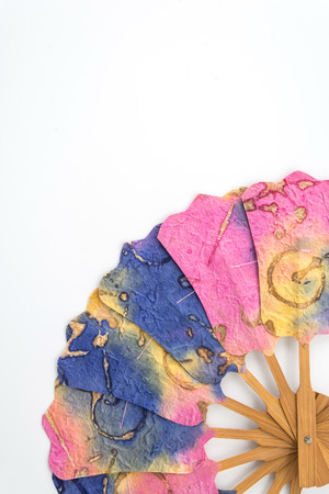 folding: folding fan on white background