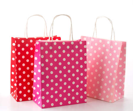 tiendas de comida: Bolsa de papel sobre fondo blanco
