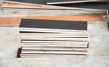 flooring: laminate floor ready to flooring Stock Photo