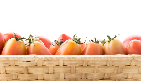 woven: fresh tomato in woven basket