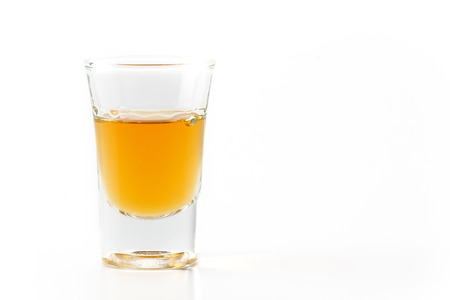 wisky glass  on white background