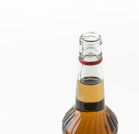 wisky bottle on white background Banque d'images