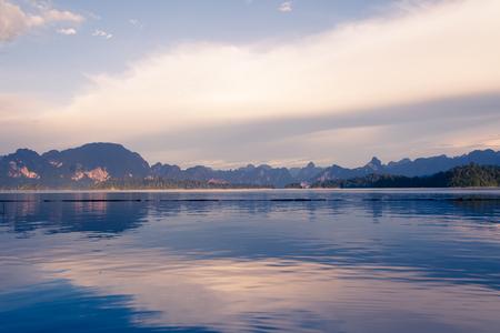 fontana: lake with mountain view and beautiful sky