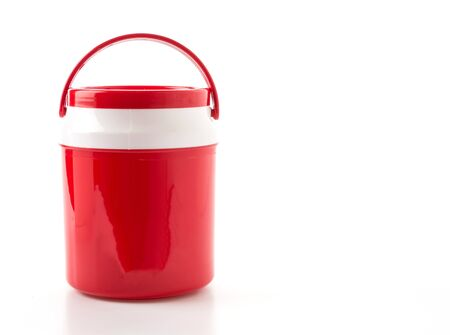 red water: red water cooler on white background
