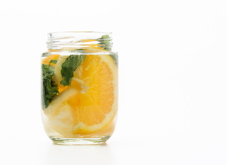 infused: infused water on white background