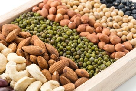 wood block: mix beans in wood block