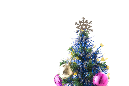star ornament: christmas tree on white background