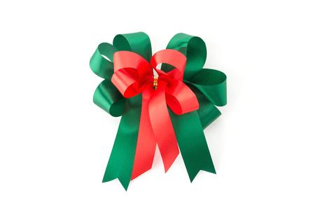 christmas bow: christmas bow on white background