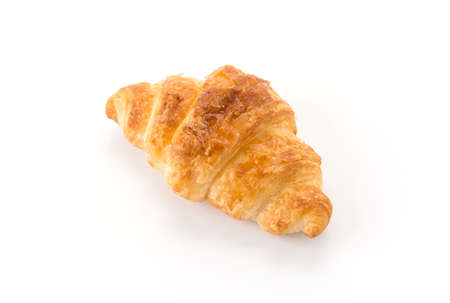 buttery: butter croissant on white background Stock Photo
