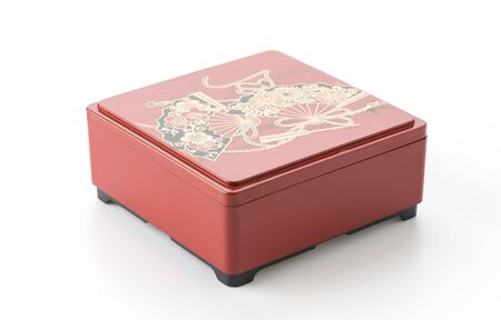 bento box on white background