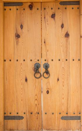 korean style house: old wood door style Stock Photo