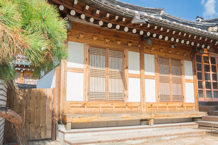 house with style: Traditional Korean style architecture at Bukchon Hanok Village in Seoul, South Korea.