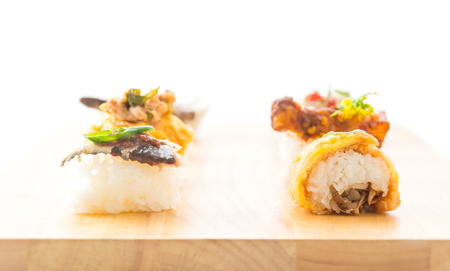 omelet sushi roll  - fusion food Stock Photo