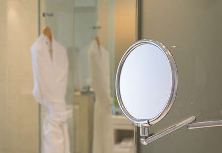 circle shape: mirror - circle shape Stock Photo