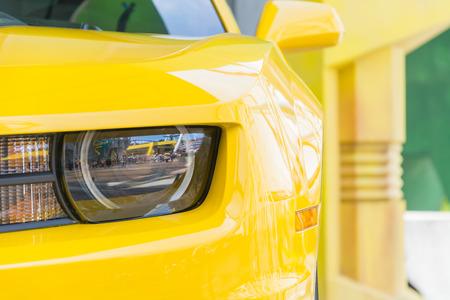 headlight: Headlight lamp car Stock Photo