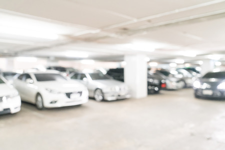 abstract blurred parking car