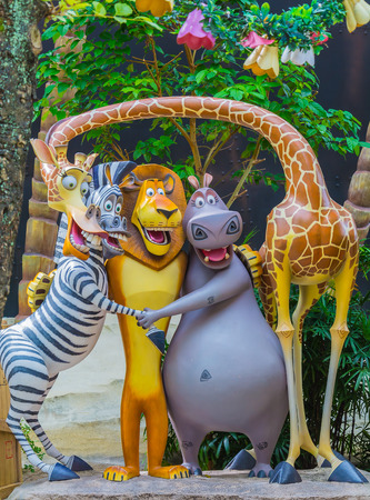 SINGAPORE - July 20 2015: Tourists and theme park visitors Attraction in Universal Studios at Singapore in Sentosa island, Singapore