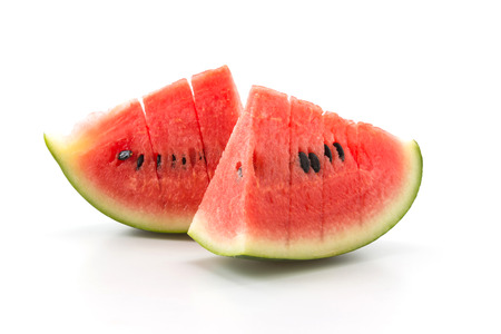 frische Wassermelone auf weißem Hintergrund