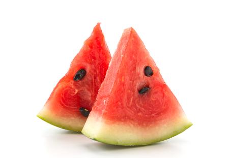 slice: fresh watermelon on white background