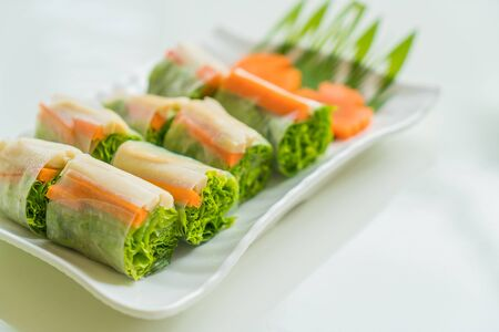goi: noodle roll  in Vietnam style Stock Photo