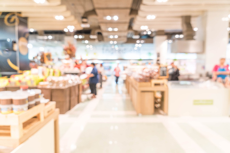 blur in supermarkt Stockfoto