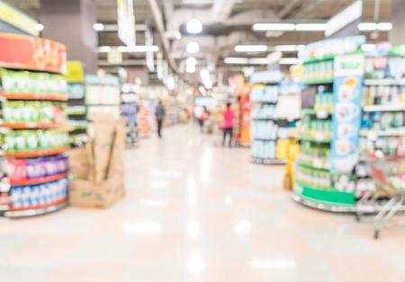 pracoviště: abstraktní rozostření v supermarketu Reklamní fotografie