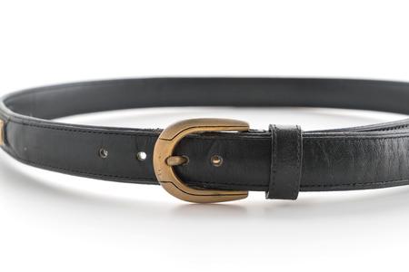 chrome man: fashion belt on white background