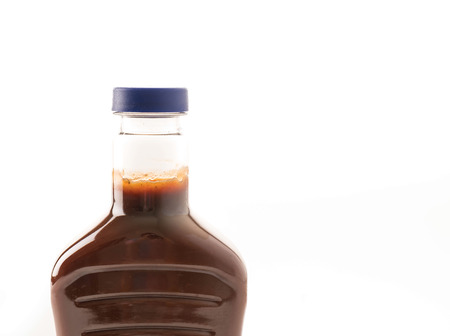 catsup bottle: barbecue sauce bottle on white background Stock Photo